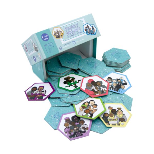 FamilyMemo offen mit Karten 1000 x 1000