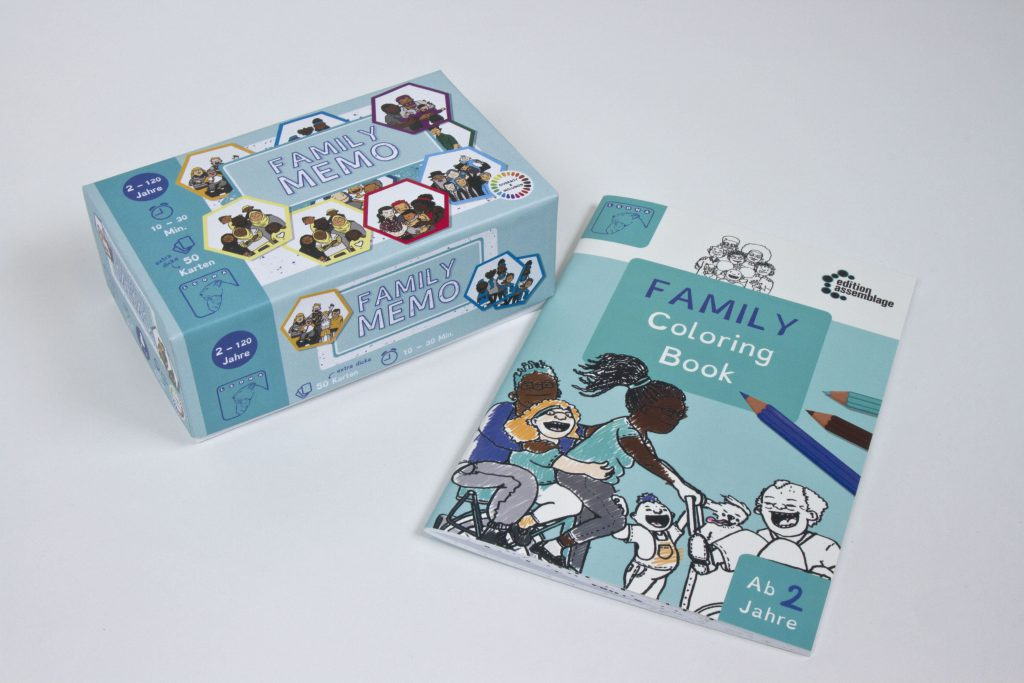 Family Memo Coloring Book